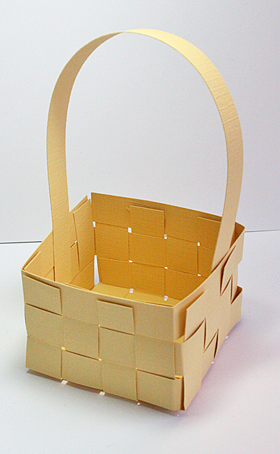 Mini woven paper easter basket tutorial for Paper basket weaving template